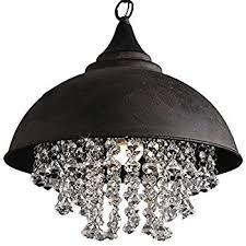 crystal pendant lighting. Industrial Wrought Iron Vintage Retro Crystal Pendant Light LITFAD Adjustable 14 Lighting