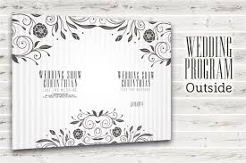 Templates For Wedding Programs Wedding Program Template Psd 2 Sided Graphicfy