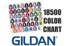 Gildan Color Chart 2019 Gildan 18500 Hoodie Sweatshirt Color Chart