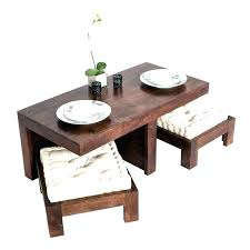 coffee tables with seating underneath table stools cubes seats ottoman square round