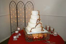 al highlight lighted glass block cake stands