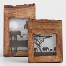 multiple empty picture frames. Raw Edge Wood Frame Multiple Empty Picture Frames