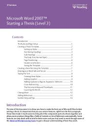 Word Thesis Template How To Construct Your Thesis University Of Reading