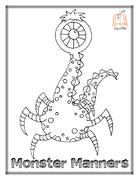 Small Picture Monster Manners Coloring Pages Throughout My Singing Monsters For