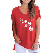 <b>2019 New Fashion</b> Paw Print Shirt Women Tshirt <b>2019</b> Tops ...