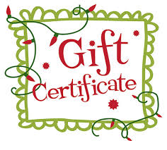 Holiday Gift Certificates 100 Gift Certificate