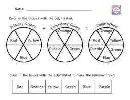The first worksheet it's easy for level 1 but the second it's more dificult and it is for level 2. Color Wheel Worksheet Teachers Pay Teachers