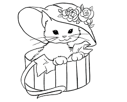 Realistic Cat Coloring Pages Printable Fat Cats Print Free And Dogs