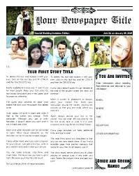 Wedding Invitation Newspaper Template Newspaper Wedding Announcement Template