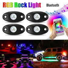 Ambother Rgb Led Rock Lights Kits Cell Phone App Mini