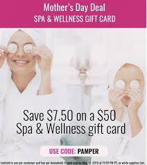 swych 50 spa wellness gift card for 42 50 promo code per