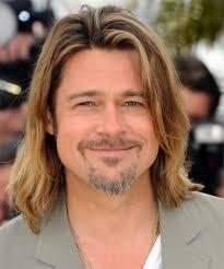 Brad Pitt Long Hairstyle Brad Pitt Long Straight Casual Hairstyle ...