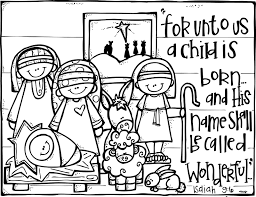 Christian Christmas Activities Free Nativity Coloring Page From