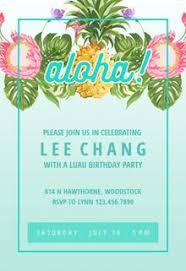 Luau Party Invitation Templates Free Greetings Island
