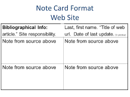 Taking Notes With Note Cards SlideShare
