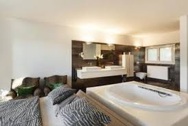 modern bedroom with bathroom. Modern Interiors Often Fail To Adequately Separate The Bedroom From Bathroom. With Bathroom T
