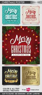 Free Christmas Poster Psd Template Free Psd Templates