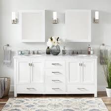 72 modero double vanity for undermount sink white