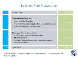 Business Plan Document Template Business Plan Workshops