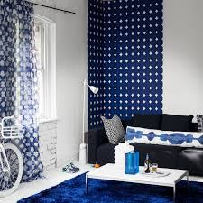 home colour ideas living room. focus on one colour. navy and white living room home colour ideas m