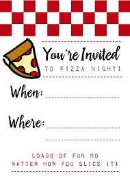 Party Invites Templates Free Pizza Night Invites Printables Pinterest Pizza Party Party