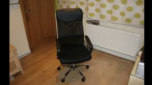 a new mesh and leather office chair