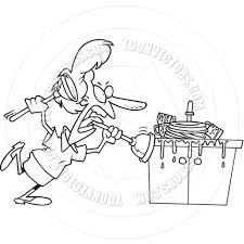 kitchen sink clipart black and white. cartoon clogged kitchen sink (black and white line art) clipart black