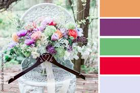 Purple and green wedding colors Color Combination Wedding Color Palette Green Purple Red Orange Flowers Image By Danyele Elyse Tahoe Wedding Sites Wedding Color Inspiration Natural Peaceful Green The Pink Bride
