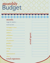 Household Budget Sheet Template And How To Live On A Bud Monthly Bud