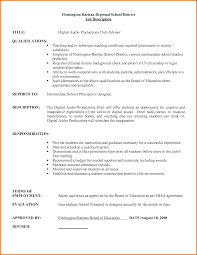 Job Description For Substitute Teacher For Resume Job Substitute Teacher Resume Job Description 6