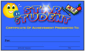 Star Student Certificates Free Printable Award Certificates For Elementary School Teachers