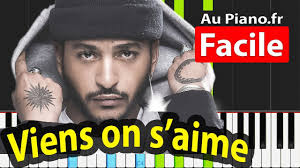 Slimane - Viens on s'aime Tutorial Piano FACILE - YouTube
