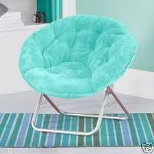 furniture for teens. folding soft plush saucer chair aqua seat dorm furniture teen light easy storage for teens
