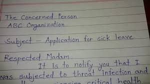 Request Letter For Sick Leave How To Write Application For Sick Leave How To Write