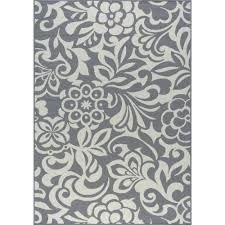tayse rugs tahari gray 8 ft x 10 ft indoor outdoor area rug