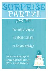 surprise birthday party invite surprise party free birthday invitation template greetings island