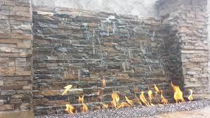 rock wall fountain fountainpondwaterfall contractors kansas city area stone wall water