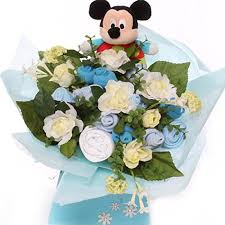 disney baby gift baby clothing bouquet with soft disney mickey mouse ring rattle unique