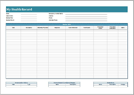 Personal Health Record Forms Personal Health Record Templates 13 Various Ways To Do