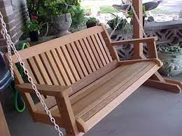 Wooden porch swings are needed for every family : Wooden Porch Swings With  Country Patio Design