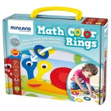Обучающий <b>набор Miniland</b> c цветными кольцами Math Color ...