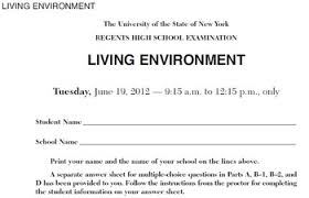 Ny Living Environment Regents Worksheets Teaching