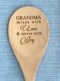 personalized gift for grandma grandpas gift nana gift engraved wood spoon wood mixing spoon