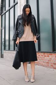 green leather jacket outfit ideas