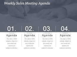 Weekly Sales Meeting Agenda Powerpoint Slide Presentation