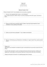 Permission Slip Forms Template Medical Permission Slip Template
