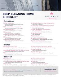 Deep Cleaning Checklist Printable Deep Cleaning Checklist Pdf