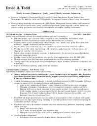 Supply Chain Management Resume Delectable 48 David R Todd Resume
