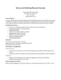 Resume Objective Entry Level Bank Teller Resume Resume Objective Examples For Bank 92