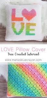 love pillow cover free crochet pattern red heart super saver